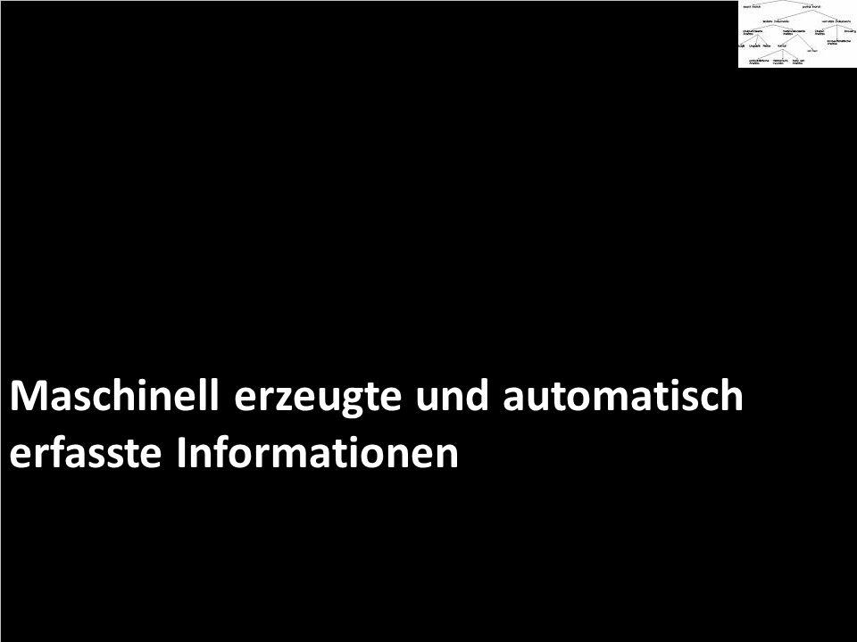 Maschinell erzeugte und automatisch erfasste Informationen