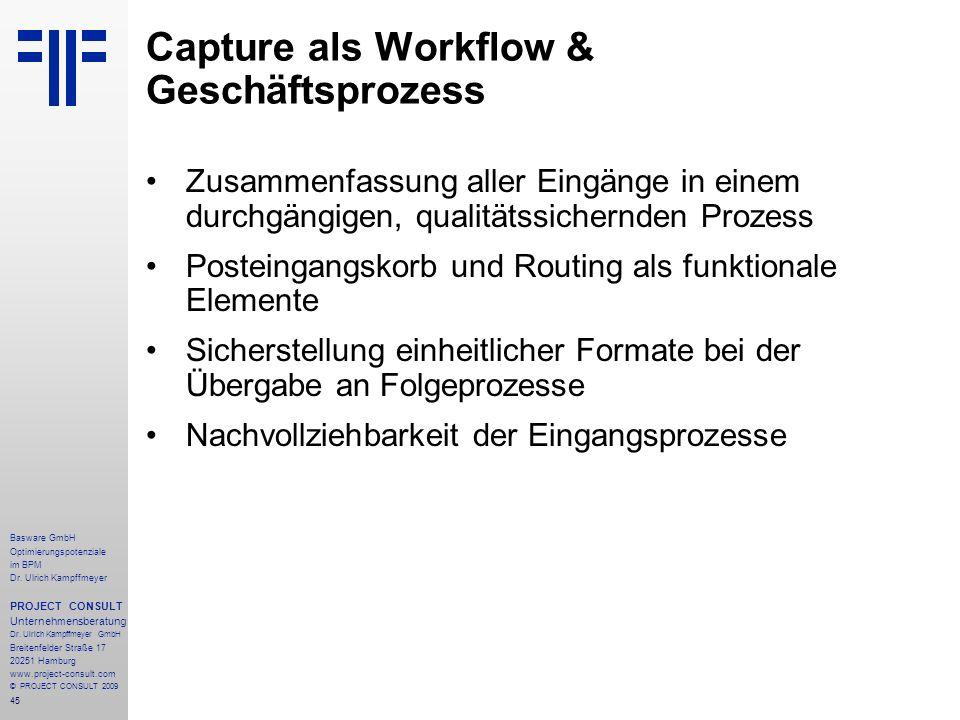 Capture als Workflow & Geschäftsprozess