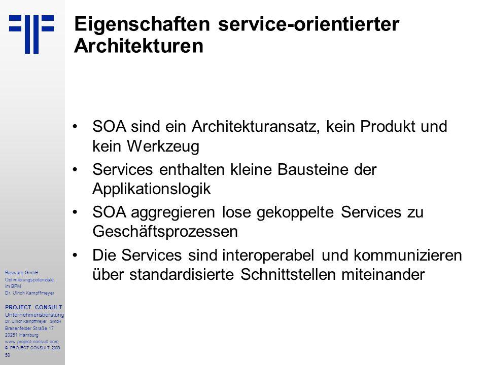 Eigenschaften service-orientierter Architekturen