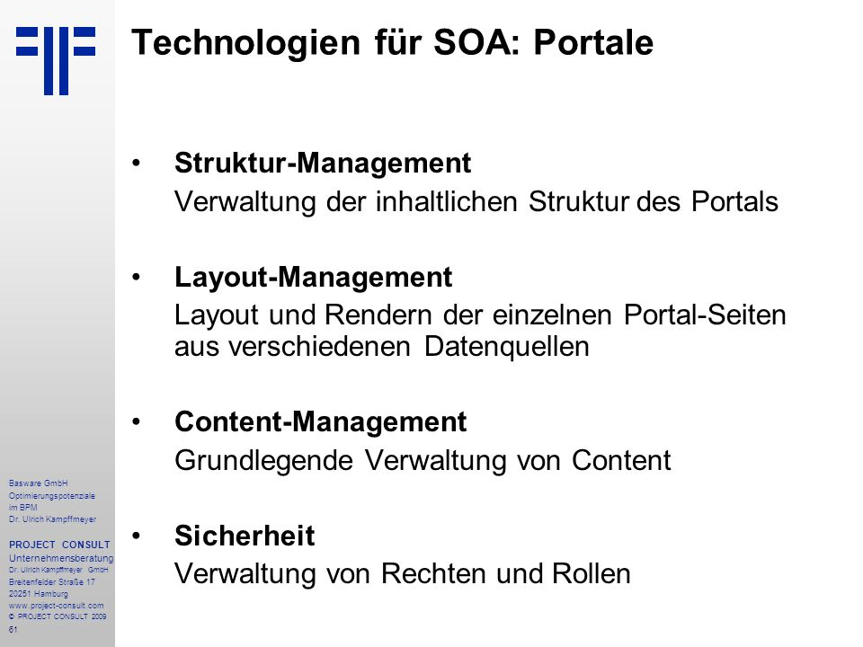 Technologien für SOA: Portale