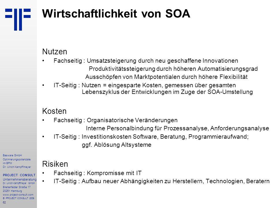 Wirtschaftlichkeit von SOA