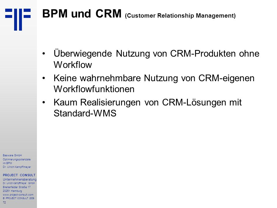 BPM und CRM (Customer Relationship Management)