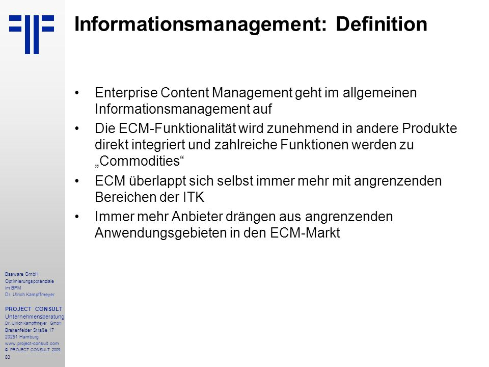 Informationsmanagement: Definition
