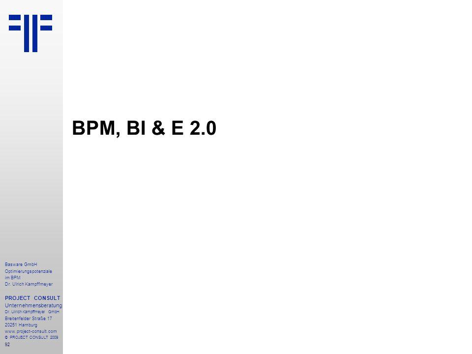 BPM, BI & E 2.0 PROJECT CONSULT Unternehmensberatung Basware GmbH