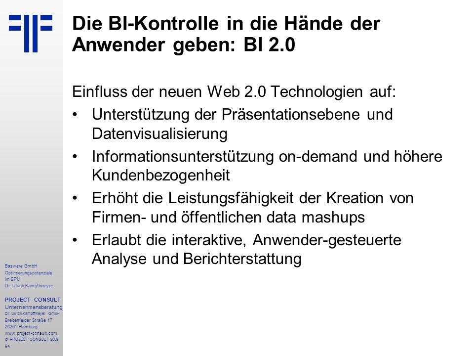 Die BI-Kontrolle in die Hände der Anwender geben: BI 2.0
