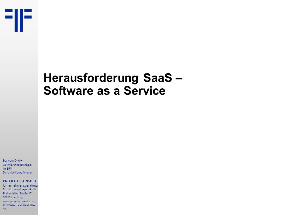 Herausforderung SaaS – Software as a Service