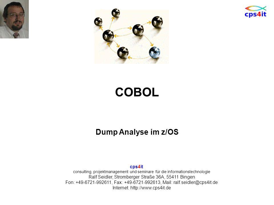 COBOL Dump Analyse im z/OS