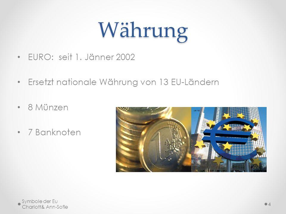 Währung EURO: seit 1. Jänner 2002
