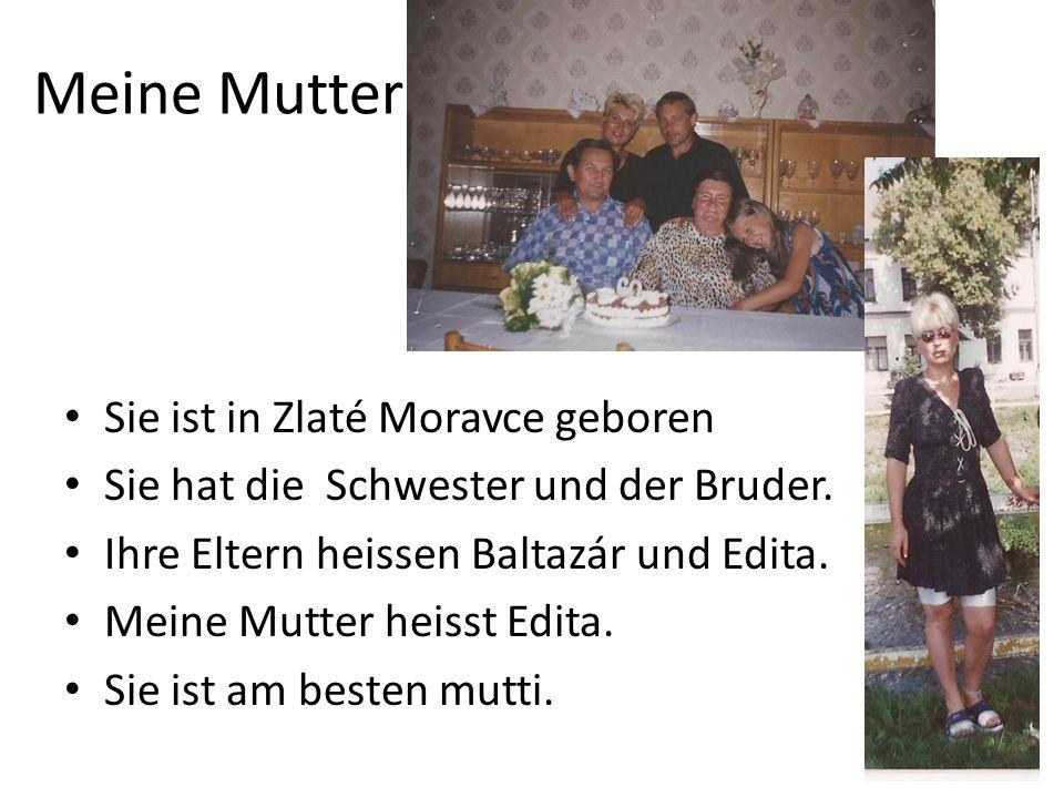 Meine Mutter Sie ist in Zlaté Moravce geboren