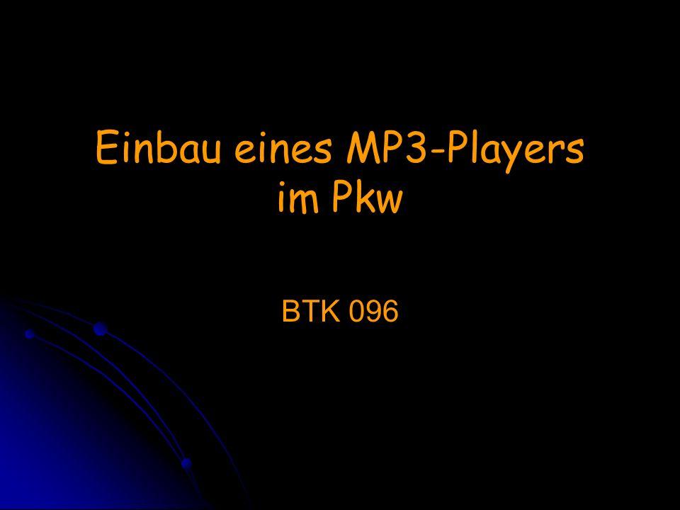 Einbau eines MP3-Players im Pkw