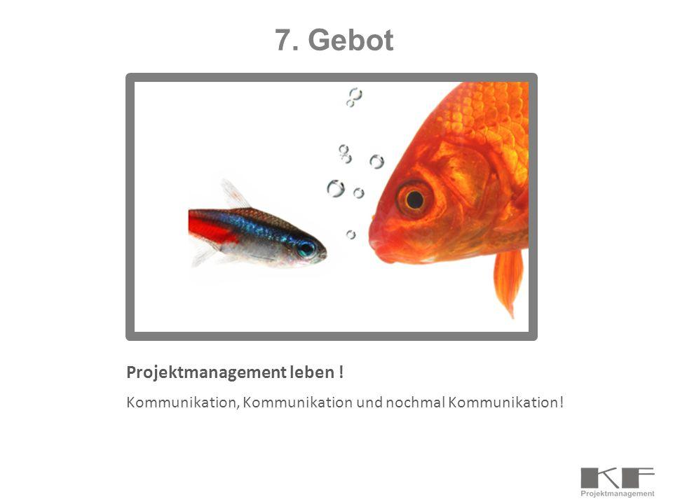 7. Gebot Projektmanagement leben !