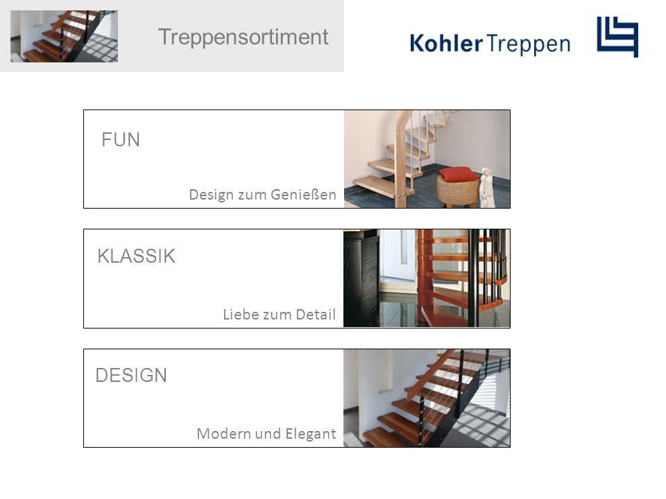 Treppensortiment FUN KLASSIK DESIGN Design zum Genießen
