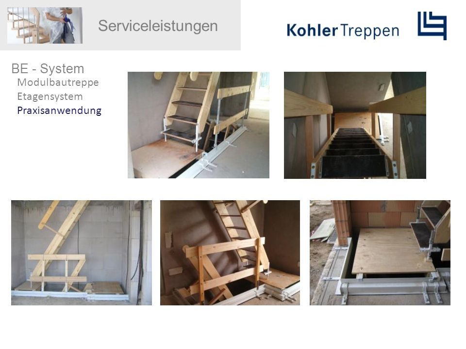 Serviceleistungen BE - System Modulbautreppe Etagensystem