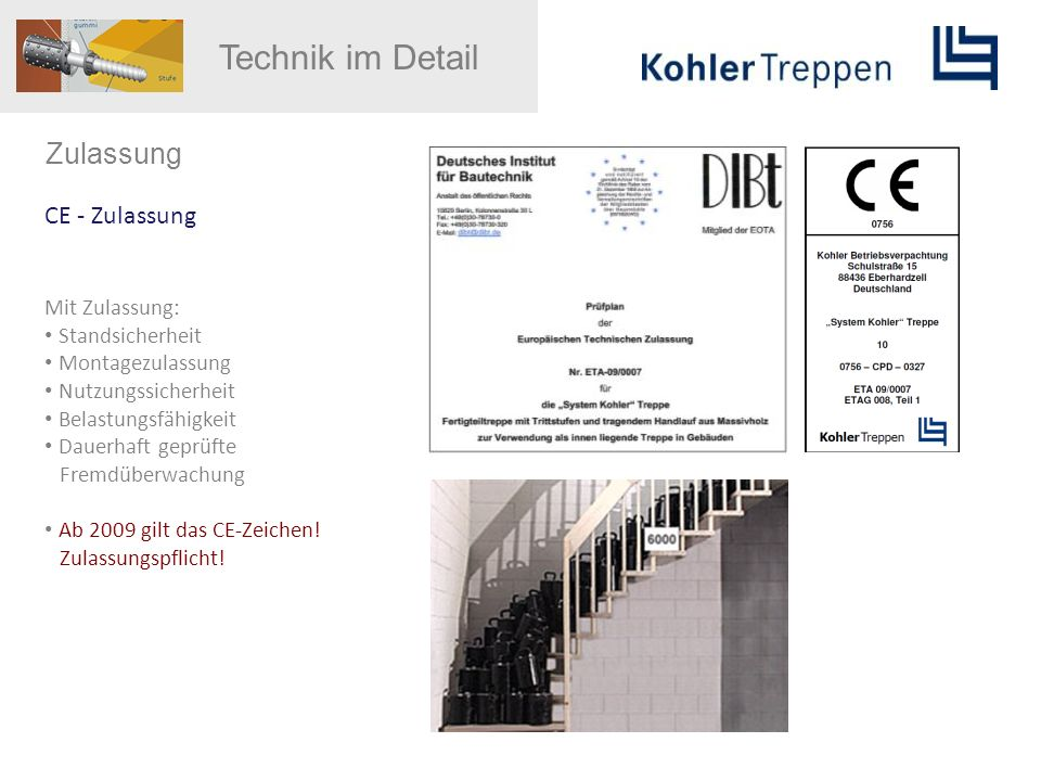 Technik im Detail Zulassung CE - Zulassung Mit Zulassung: