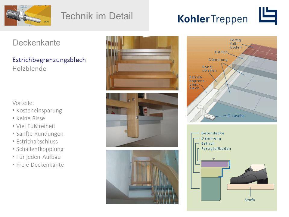 Technik im Detail Deckenkante Estrichbegrenzungsblech Holzblende