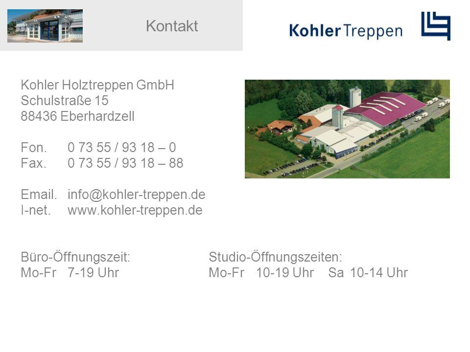 Kontakt Kohler Holztreppen GmbH Schulstraße 15 88436 Eberhardzell