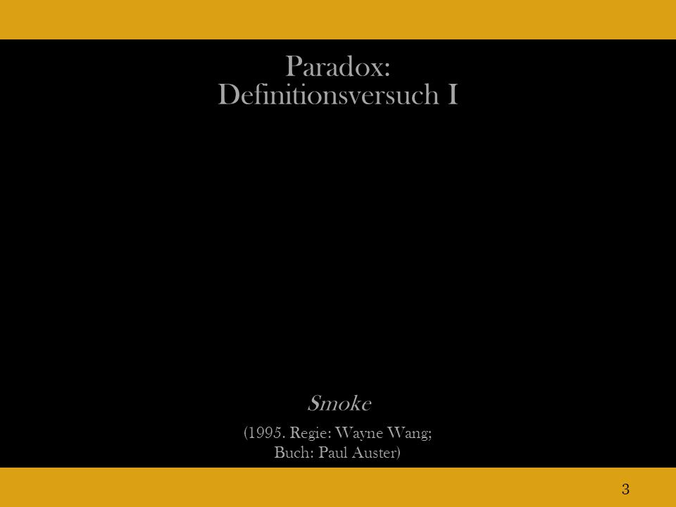 Paradox: Definitionsversuch I