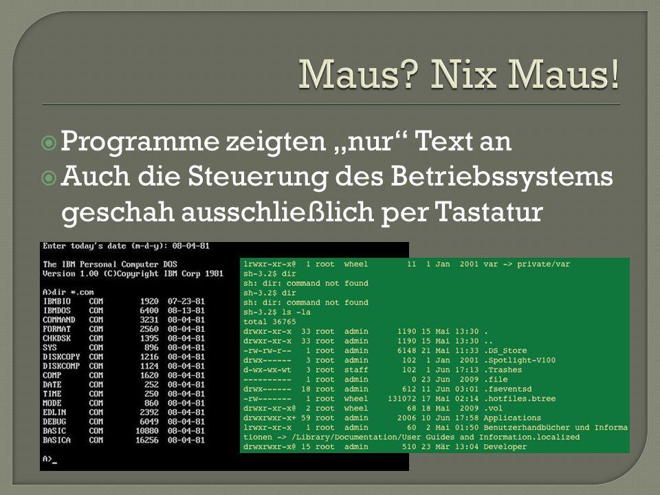"""Maus Nix Maus! Programme zeigten """"nur Text an"""
