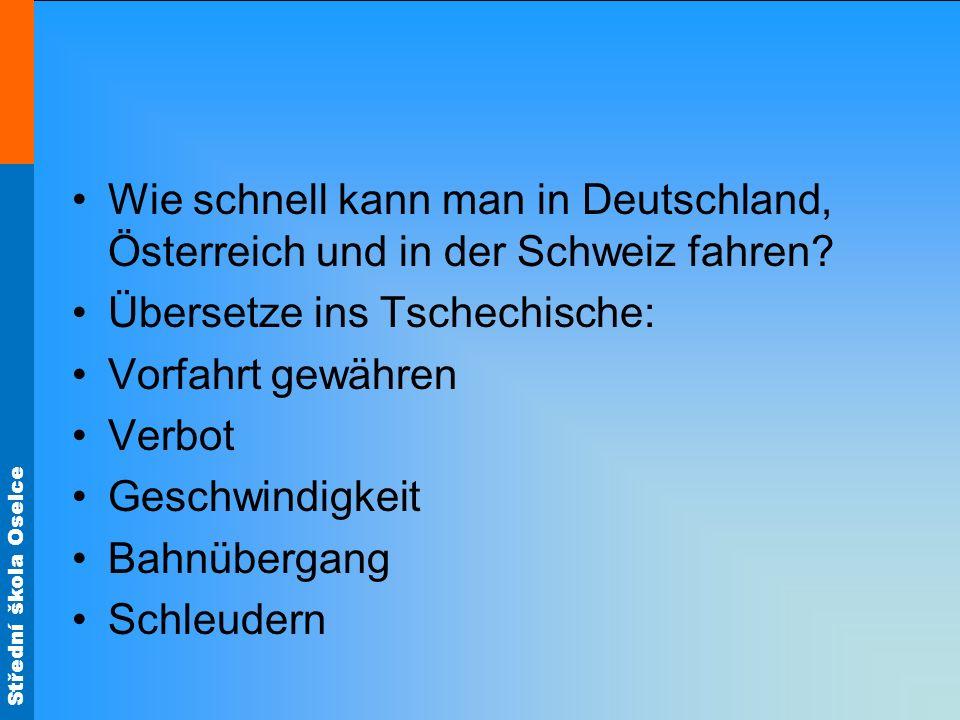 Wie schnell kann man in Deutschland, Österreich und in der Schweiz fahren