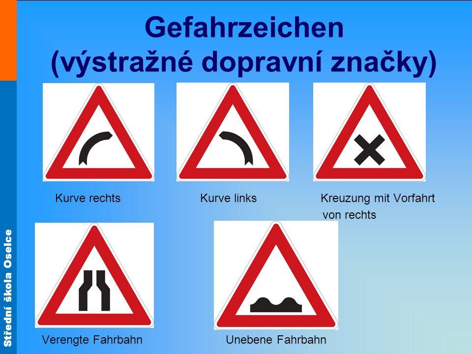 Gefahrzeichen (výstražné dopravní značky)