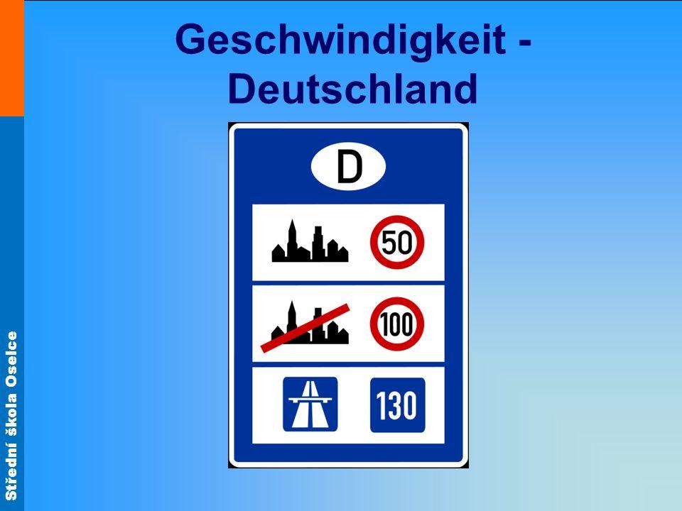 Geschwindigkeit - Deutschland