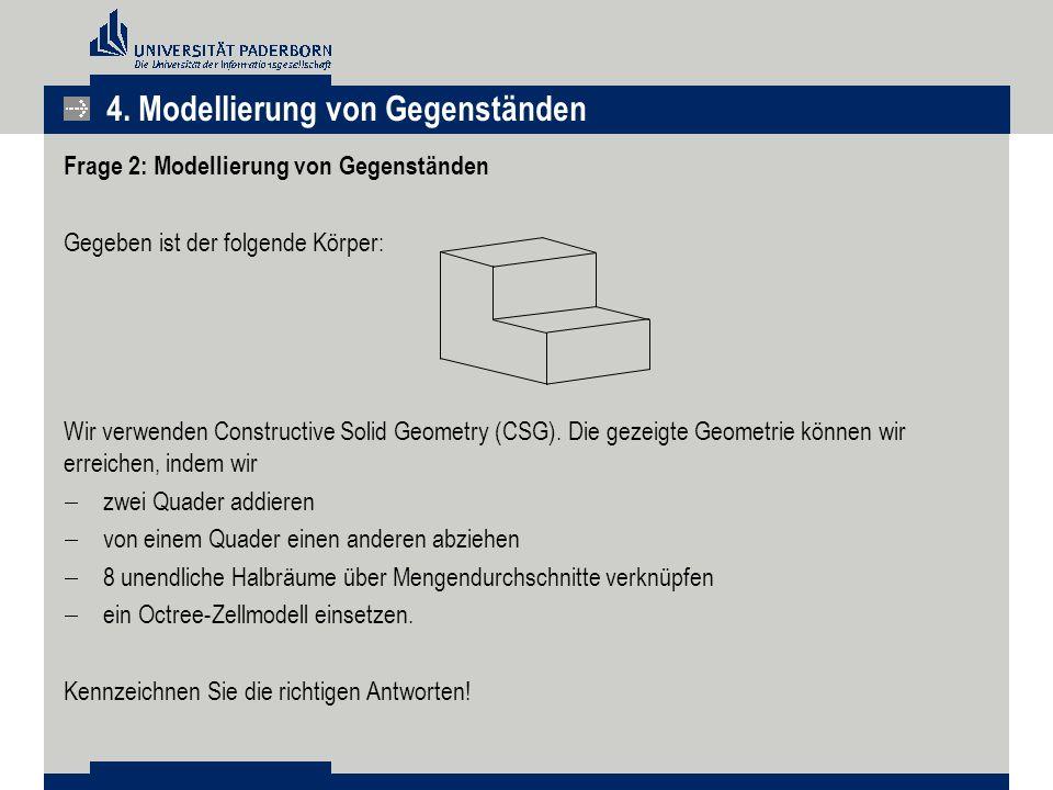 4. Modellierung von Gegenständen