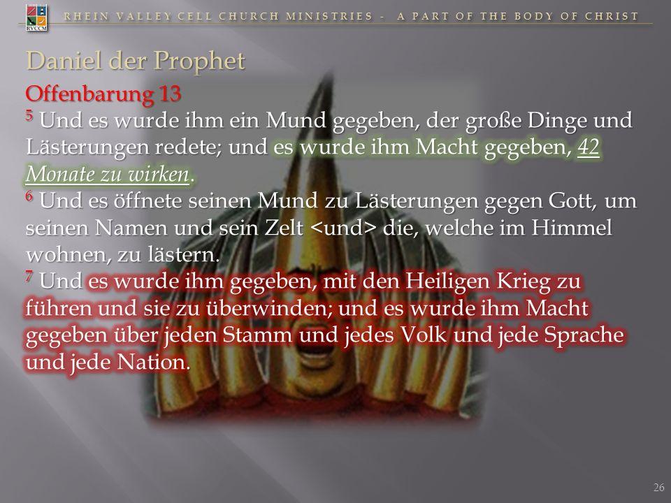 Daniel der Prophet Offenbarung 13