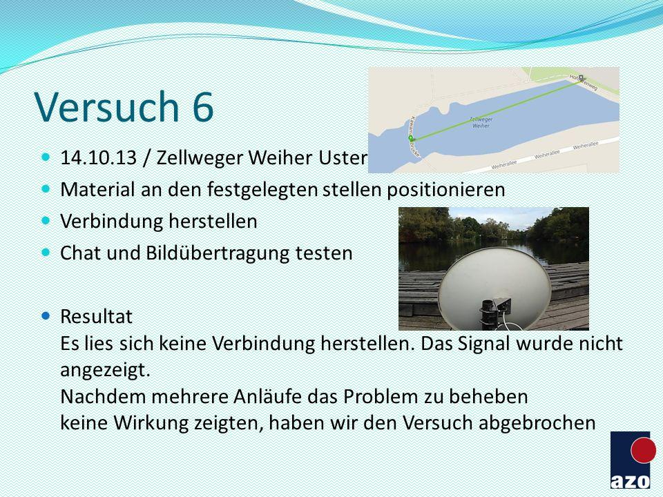 Versuch 6 14.10.13 / Zellweger Weiher Uster