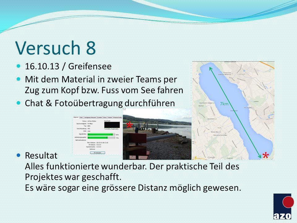 Versuch 8 * * 16.10.13 / Greifensee