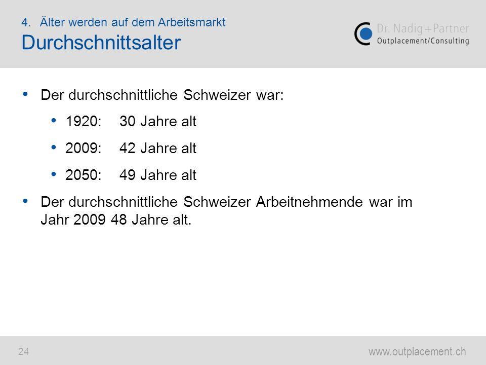 Durchschnittsalter Der durchschnittliche Schweizer war: