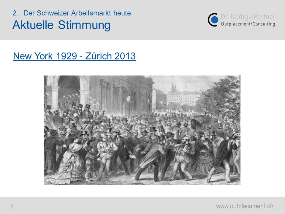 Aktuelle Stimmung New York 1929 - Zürich 2013