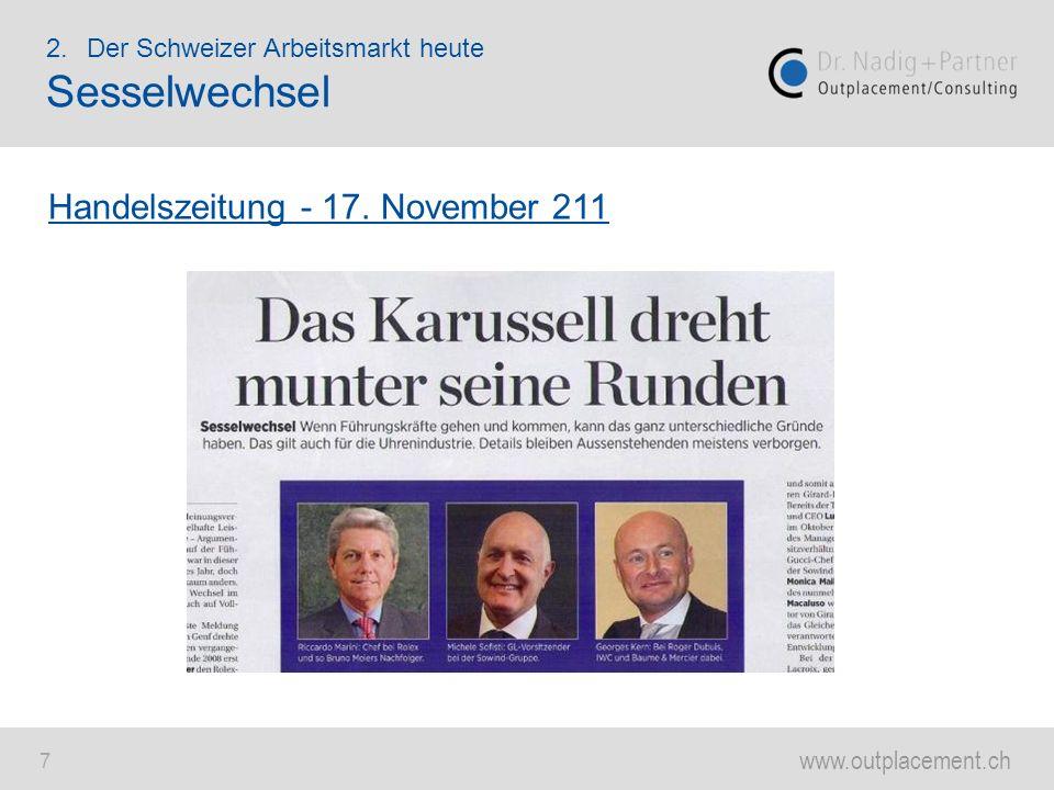 Sesselwechsel Handelszeitung - 17. November 211