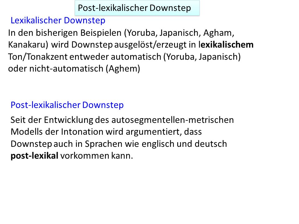 Post-lexikalischer Downstep
