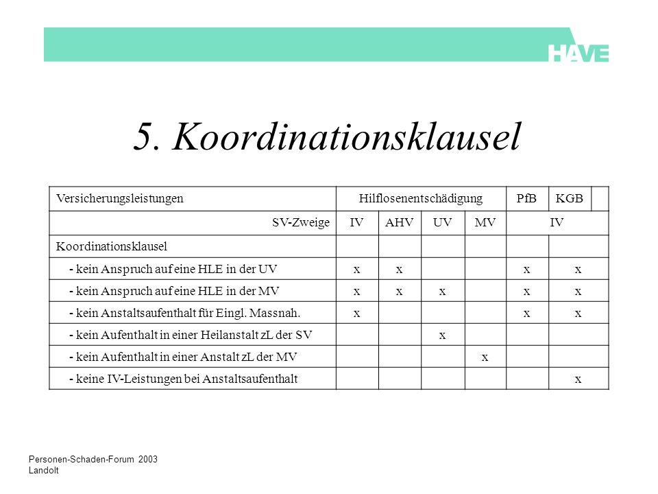 5. Koordinationsklausel