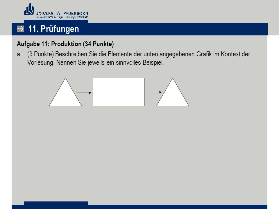 11. Prüfungen Aufgabe 11: Produktion (34 Punkte)