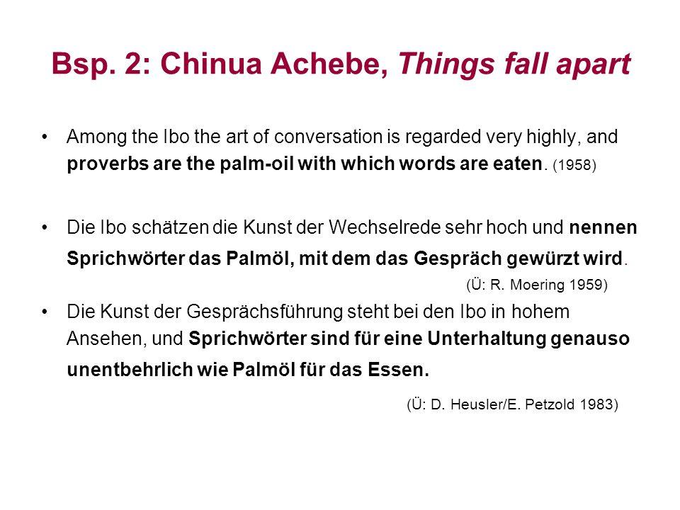 Bsp. 2: Chinua Achebe, Things fall apart