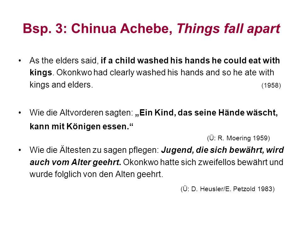Bsp. 3: Chinua Achebe, Things fall apart