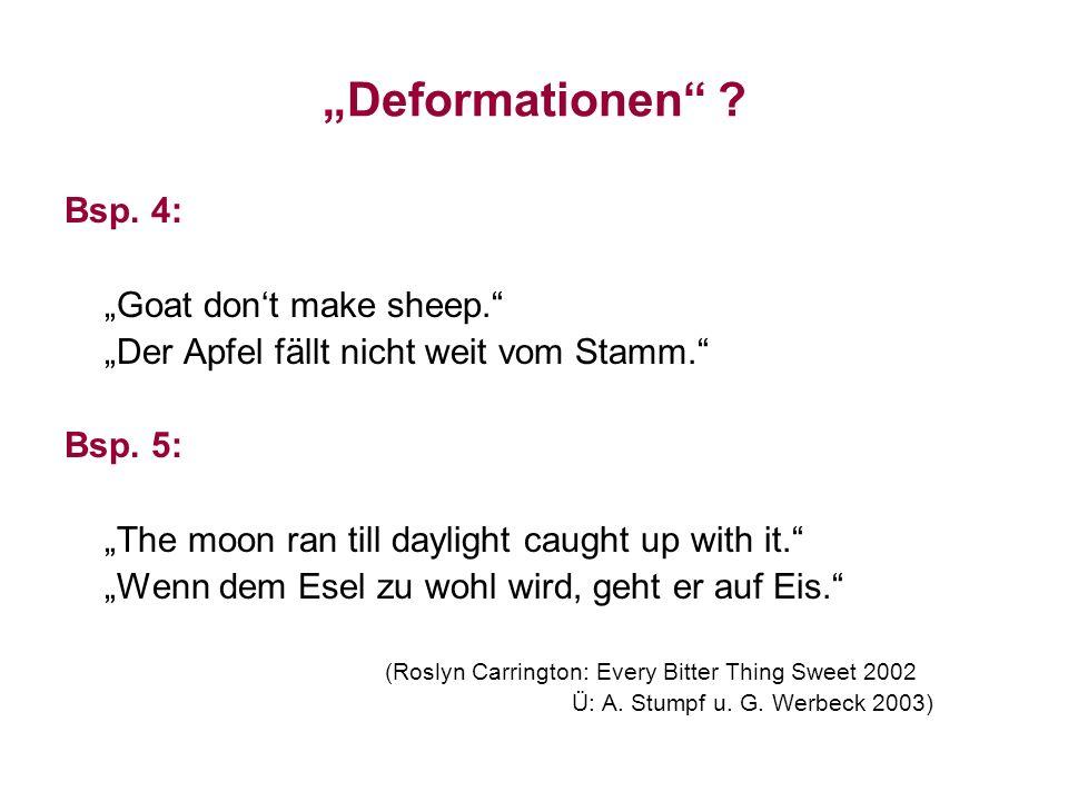"""""""Deformationen Bsp. 4: """"Der Apfel fällt nicht weit vom Stamm."""