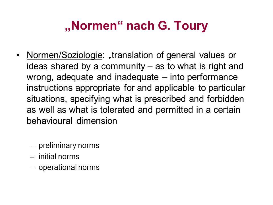 """""""Normen nach G. Toury"""
