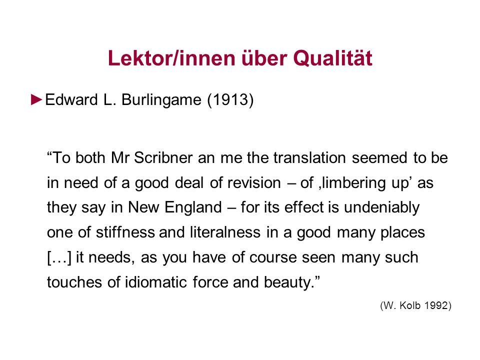 Lektor/innen über Qualität