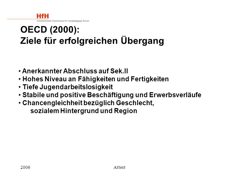 OECD (2000): Ziele für erfolgreichen Übergang