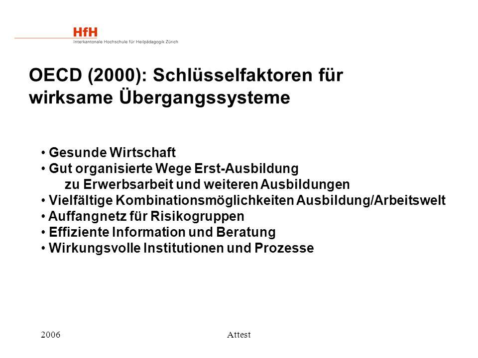 OECD (2000): Schlüsselfaktoren für wirksame Übergangssysteme