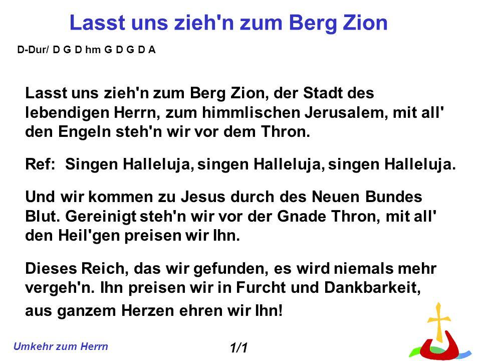 Lasst uns zieh n zum Berg Zion