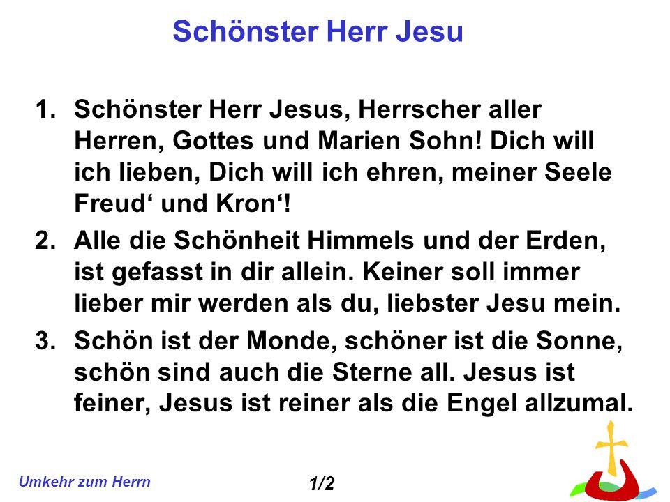 Schönster Herr Jesu