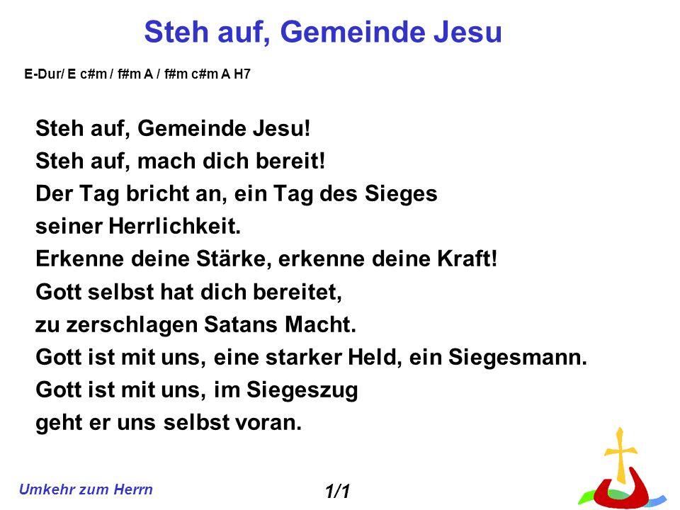 Steh auf, Gemeinde Jesu Steh auf, Gemeinde Jesu!