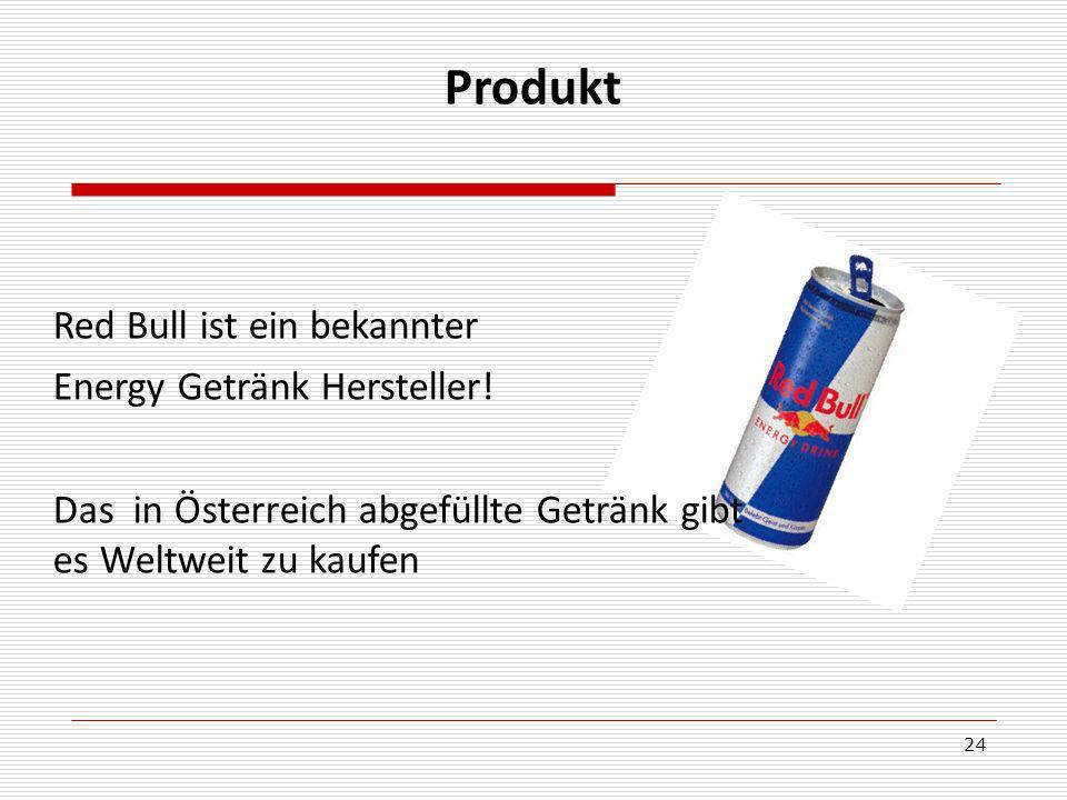 Produkt Red Bull ist ein bekannter Energy Getränk Hersteller!