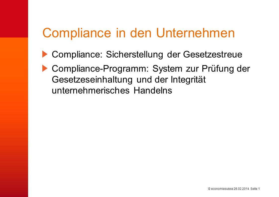 Compliance in den Unternehmen