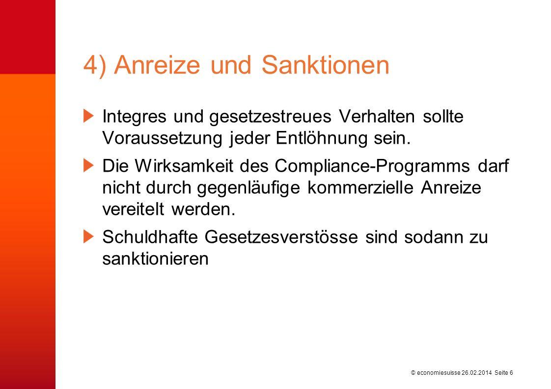 4) Anreize und Sanktionen