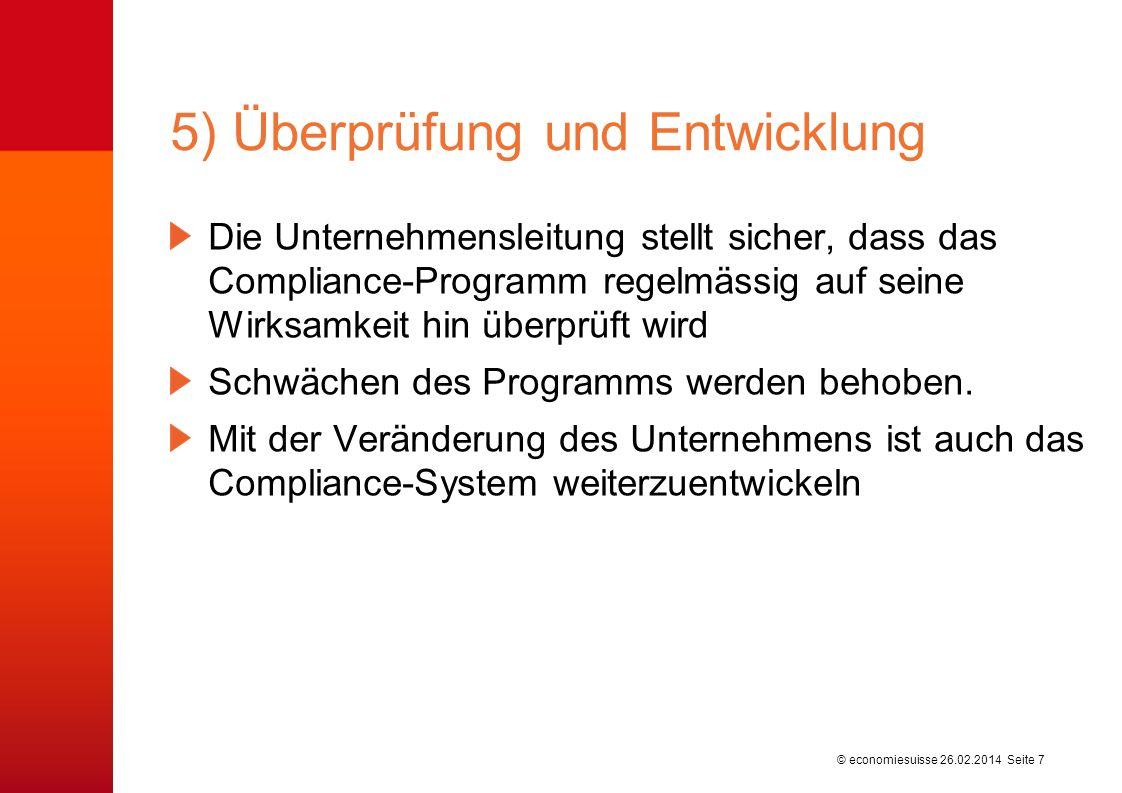 5) Überprüfung und Entwicklung
