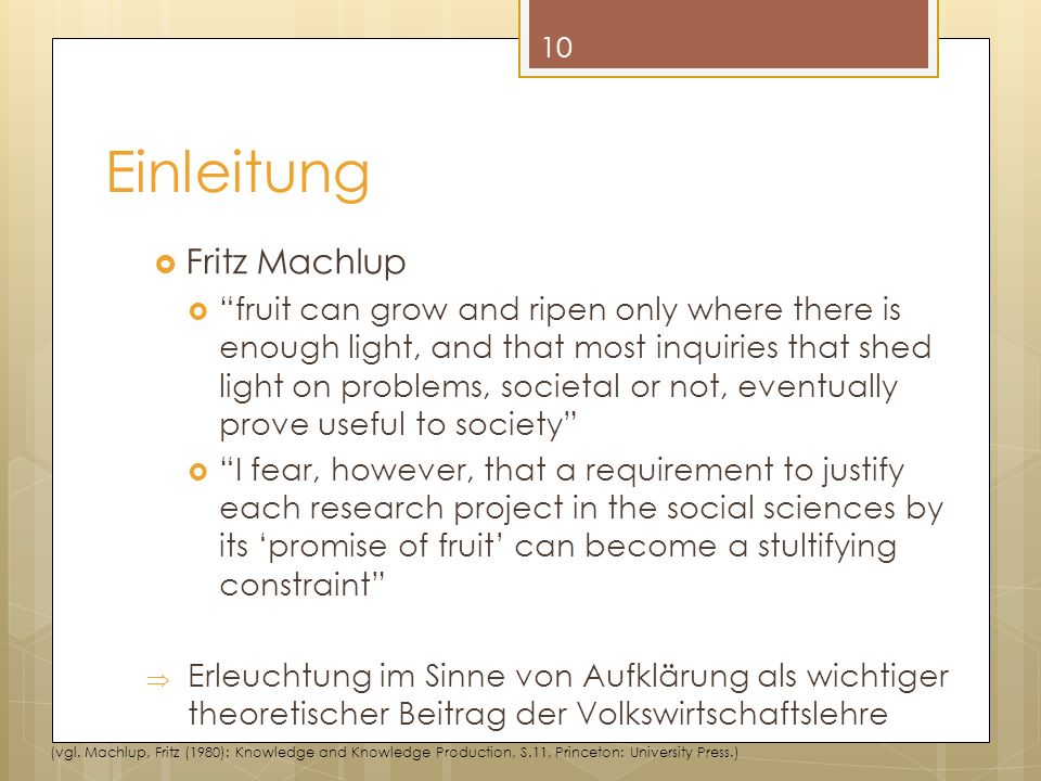 Einleitung Fritz Machlup
